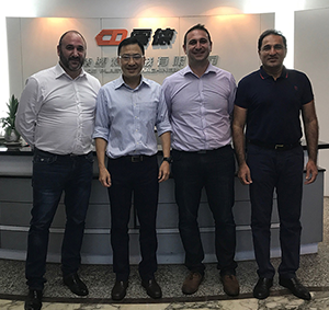 Greg and Marc with CK Chiang ( President of Manufacturing of Chen Hsong ) and Khalid Malik ( General Manager for the Middle East and Africa )